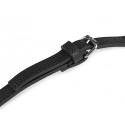 Bandoulière anse de sac simili cuir avec mousquetons / Noir, marron / Ajustable  113 - 123 cm / bandouliere cuir ajustable, anse