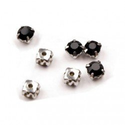 10 strass diamants a coudre 5 mm NOIR