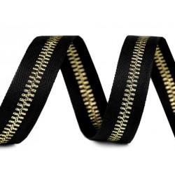 3M ruban brodé imitation zip fermeture éclair / Noir, blanc, rouge, bleu marine / Bande latérale de pantalon, décoration vêtemen