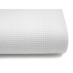 Coupon toile aida 7 blanc 20 x 30 cm