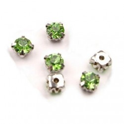 10 strass diamants a coudre 5 mm VERT