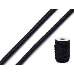 5M Elastique rond 3mm / fil élastique, cordon stretch arrondi, corde élastique, cordon élastique
