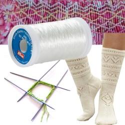 Fil élastique transparent PRYM à tricoter ou à coudre / Tricoter des chaussettes, coudre des smocks, élastique à tricoter