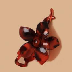 Pince fleur décorative pour cheveux ou chignon / Ecaille de tortue ou noir /  accessoires de coiffure,  barrette, pince cheveux