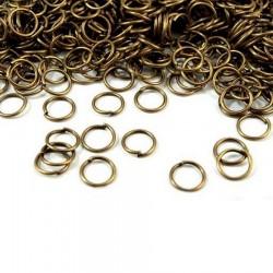 60 g anneaux métal 1cm / métal argent, or, bronze / porte-clés sacs, boucles pour sangle, porte clés, connecteurs bijoux