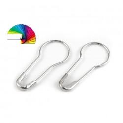 100 Epingles de sécurité  2 cm / argent, or, bronze, blanc, noir / Epingle de sécurité, épingle broche, épingle pour étiquetage