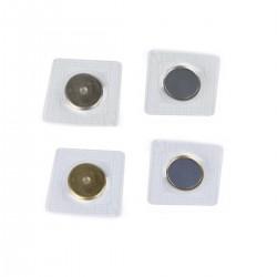 2 Fermoirs magnétiques cachés 19mm à coudre / or, argent  / Bouton aimanté, aimant pour fermeture sac