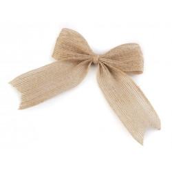 3 noeuds en jute 13 cm en jute / Décoration naturelle en toile de jute beige, décoration mariage nature