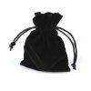 3 sacs cadeaux bourse velours  8x12cm / Noir, rouge / Bourse en velours pour bijoux, pochette cadeau noire ou rouge avec lien, c