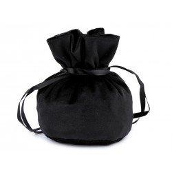 3 sacs cadeaux bourse velours noir 14x16cm / Bourse en velours pour bijoux, pochette cadeau noire ou rouge avec lien, c