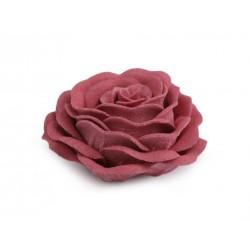 2 fleurs en laine feutrée 4 cm