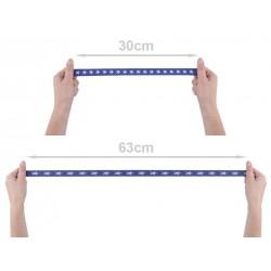 3M Elastique imprimé étoiles 20mm / ruban stretch élastique plat décoratif, bande ceinture élastique, élastique sport