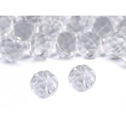 20 boutons boules 10mm cristal transparent à facettes / boutons mariage, boutons robe de mariée