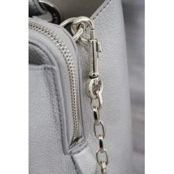 Grand mousqueton pivotant à poussoir 75 mm métal argent / mousqueton pour laisse de chien ou maroquinerie