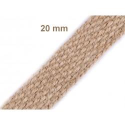 Sangle jute naturelle / 20-30-40mm / Sangles en coton bandoulières anses de sac, ceintures, cabas, besaces