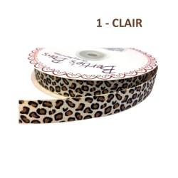 3M Ruban grosgrain imprimé animal léopard 16 mm avec bord tissé / ruban léopard, ruban animal