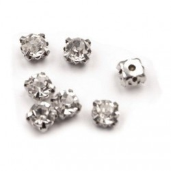 10 petits strass diamants a coudre 3 mm transparents