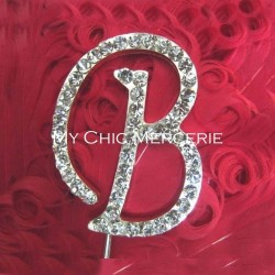 Lettre strass cristal 5 cm decoration gateau