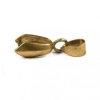 2 Suspension double pince pour fixation pendentif bronze