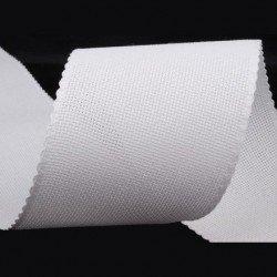 Bande 100 mm de toile aida blanc pour broderie au point de croix