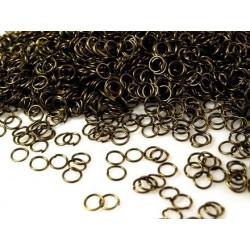 10 g anneaux de jonction 6 mm bronze pour bijoux