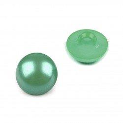 6 Bouton rond boule vert 12 mm