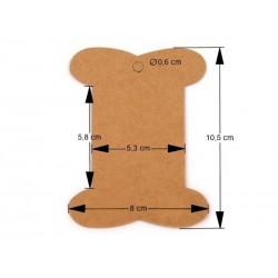 10 cartonnettes marron 8 x 10 cm pour emballage rangement