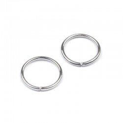 10 g anneaux métal argent 1 cm