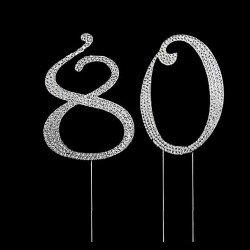 Nombre 80 strass cristal 12 cm sur tige
