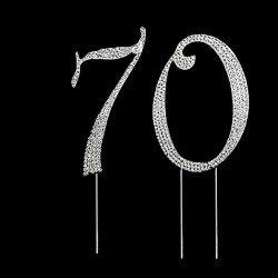 Nombre 70 strass cristal 12 cm sur tige