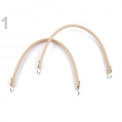 2 Anses sac courtes cuir ivoire beige