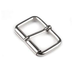 Boucle sangle ceinture 32 mm metal argent