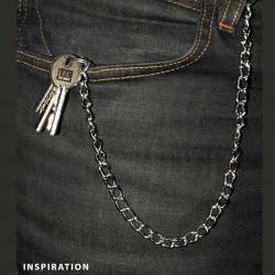 Chaine securite metal argent avec boucle