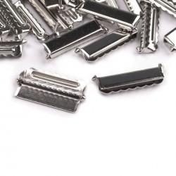Boucle ajustable sangle 30 mm metal argent