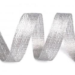 Galon ruban résille filet lurex argent 1 à 12 cm
