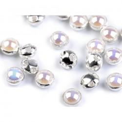 50 perles nacre reflet AB à coudre