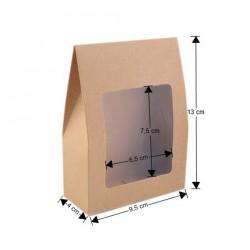 sac cadeau 9 x 13 cm fenetre cristal