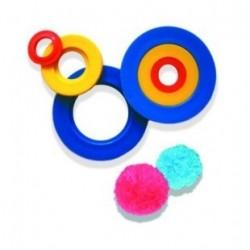 Appareil pour fabriquer des pompons et mini ponpons
