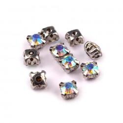 10 strass cristal à coudre 5 mm AB