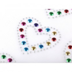coeur strass multicolore à thermocoller