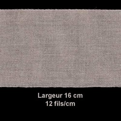 50 cm Bande a broder lin grège 16 cm