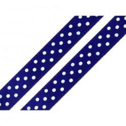 3 M ruban bleu à pois blancs 10 mm de largeur