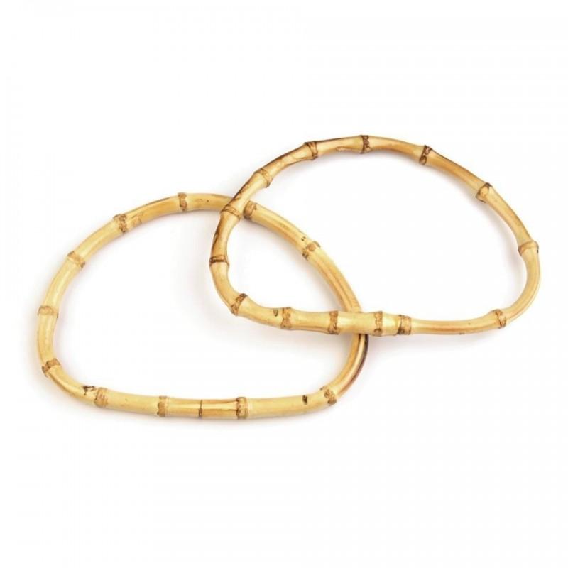 2 anses de sac en bambou ovales
