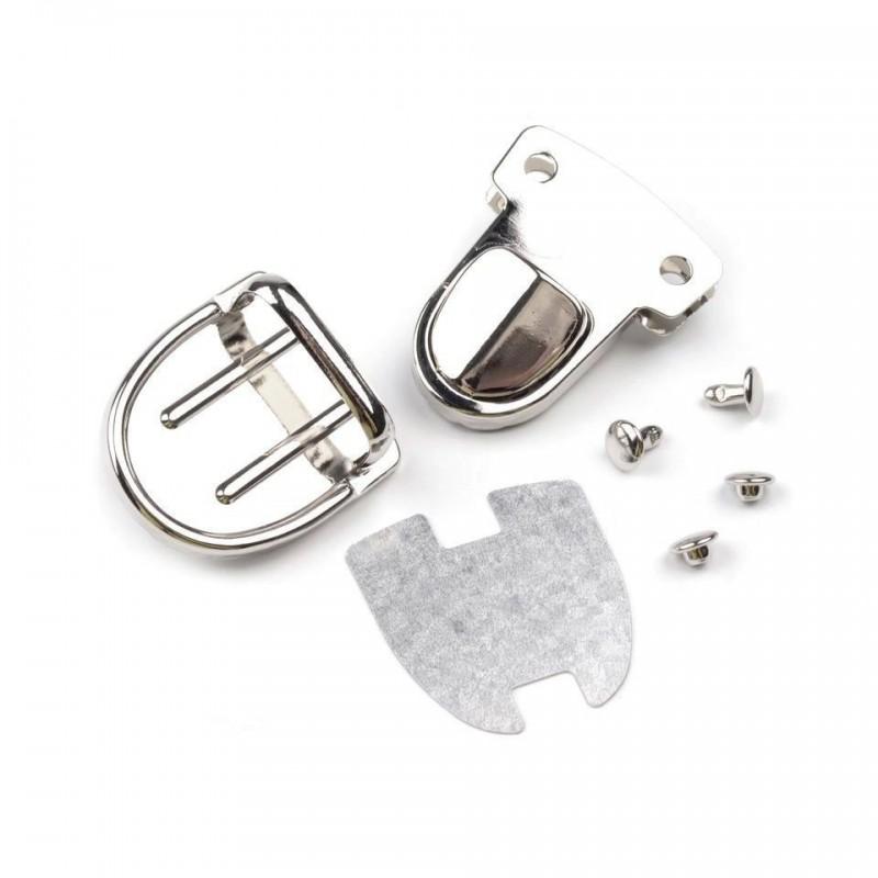 Fermoir cartable métal argent