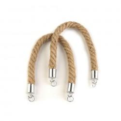 2 Anses de sac en corde 42 cm