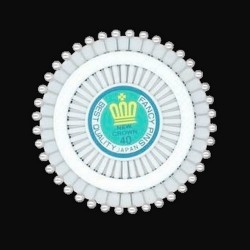 Roue 40 epingles perle blanche nacree