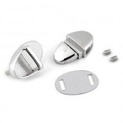 Fermoir poussoir métal argent