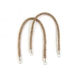 2 Anses sac corde brute 55 cm
