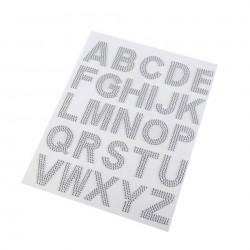 Lettres strass autocollant 3 cm