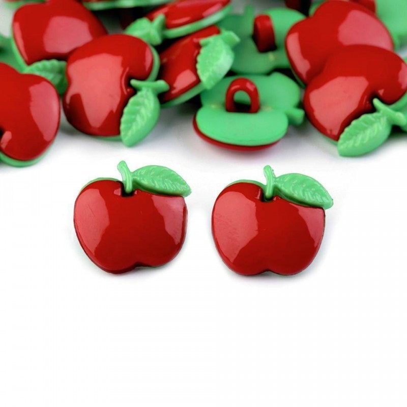 10 boutons forme fruit Pomme
